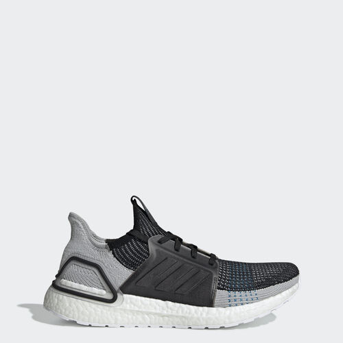 Zapatillas Ultraboost 19, (Core Black / Grey Six / Shock Cyan), 01 abril