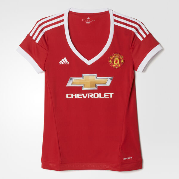 1bf77b1d230f9 Camiseta Local Manchester United Mujer REAL RED WHITE BLACK AC1425