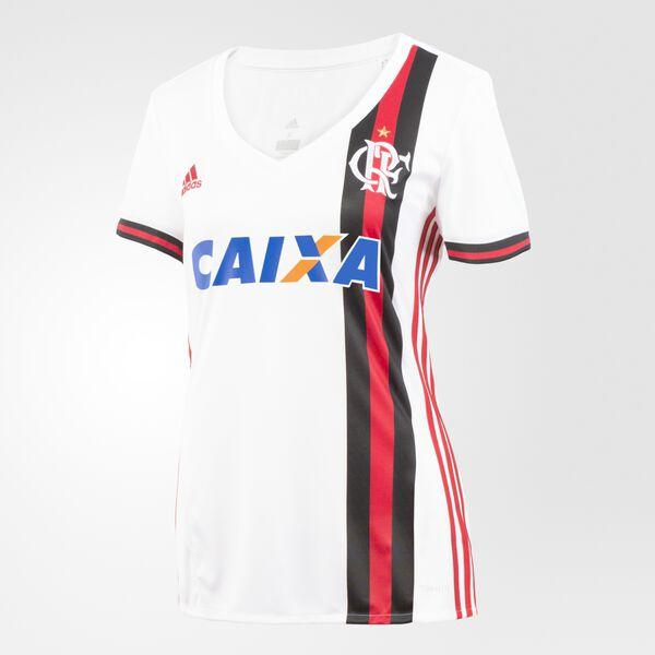 ad3ef2b058faa Camisa Flamengo 2 Feminina WHITE COLLEGIATE RED CZ2325
