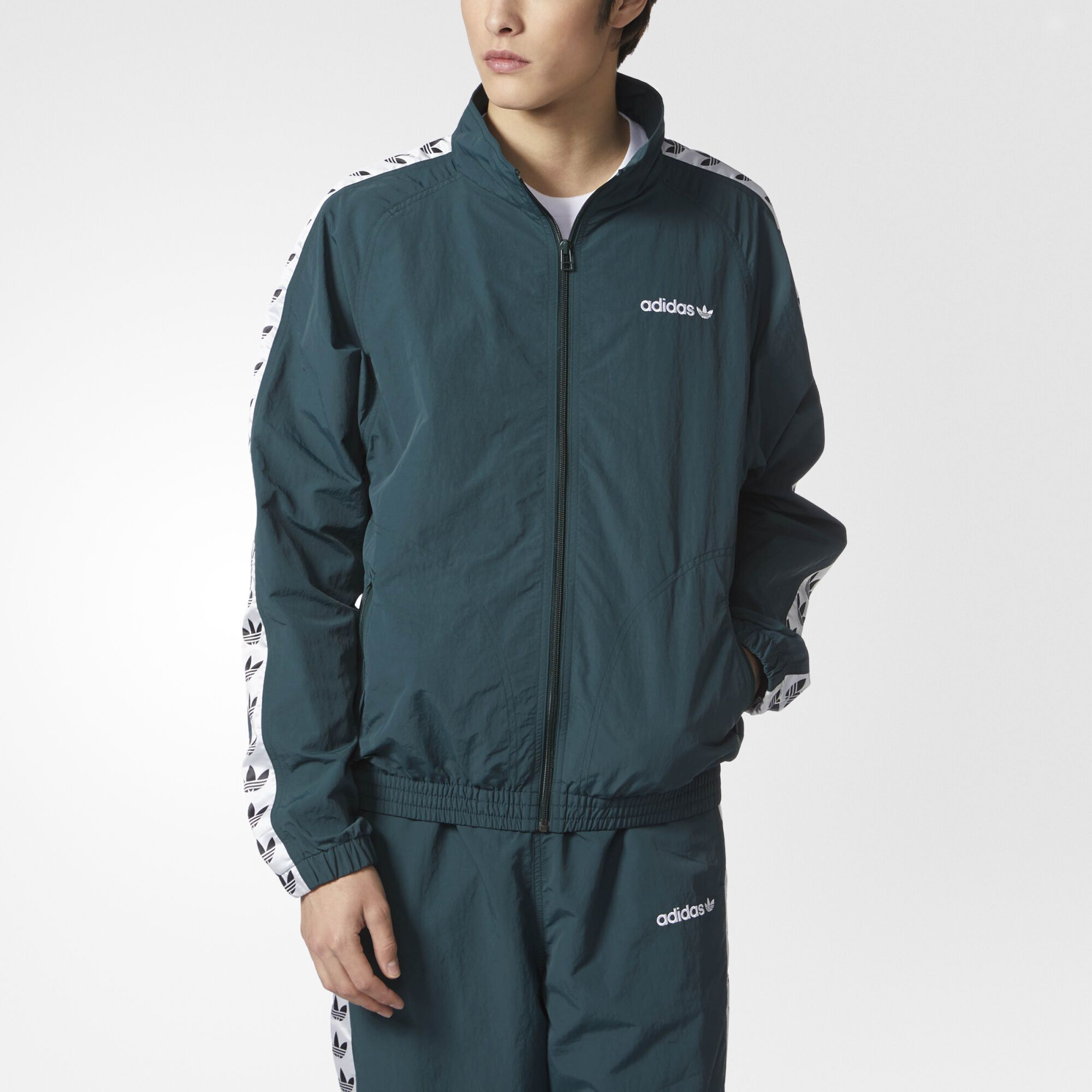 adidas - TNT Trefoil Windbreaker Green Night / White BS4623 ...